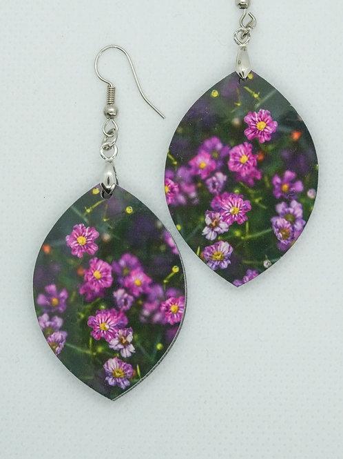 Øredobber - Rosa blomster