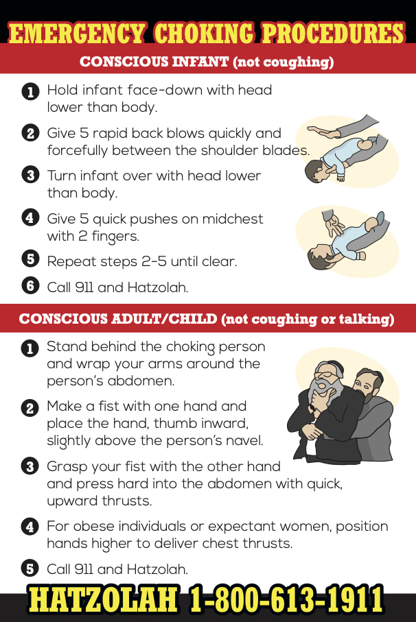 Emergency Choking Instructions Magnet