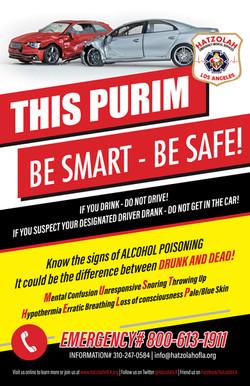 Community Purim Safety Flyer