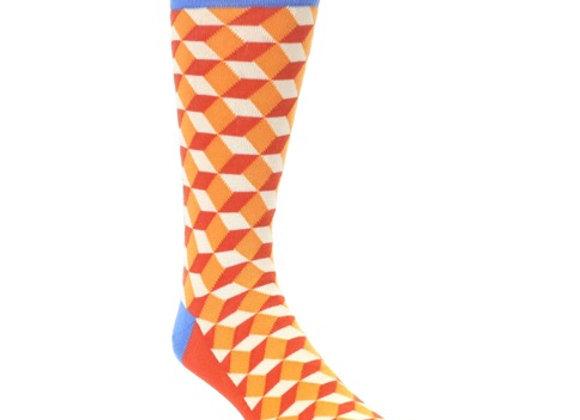 Orange Blue Beeline Optical Socks