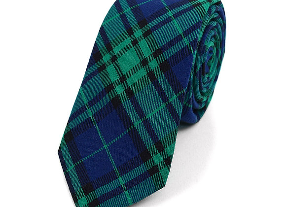 Blue and Green Flannel Tie