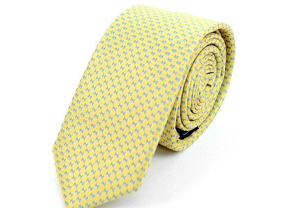 Yellow Micro Geometric Dot Tie