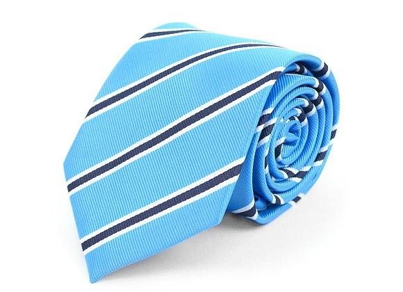 Teal Striped Tie