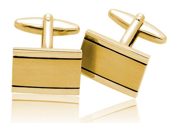 Gold Rectangluar Cufflinks