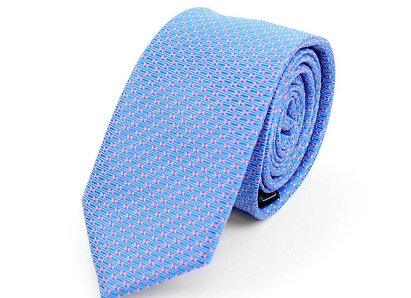 Blue Micro Geometric Dot Tie