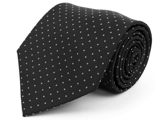Black Pin Dot Tie
