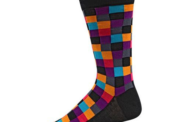 Multicolored Block Socks