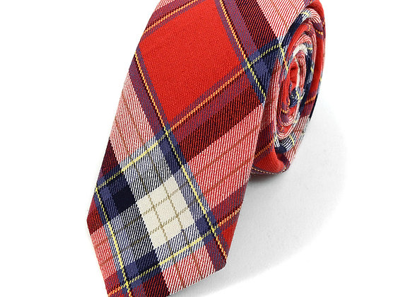 Red and White Flannel Tie