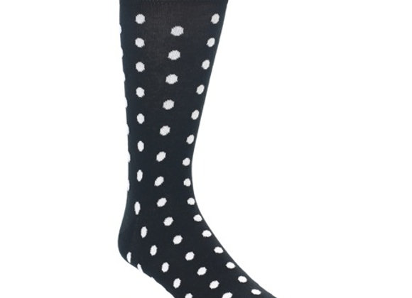 Black with White Dots Socks