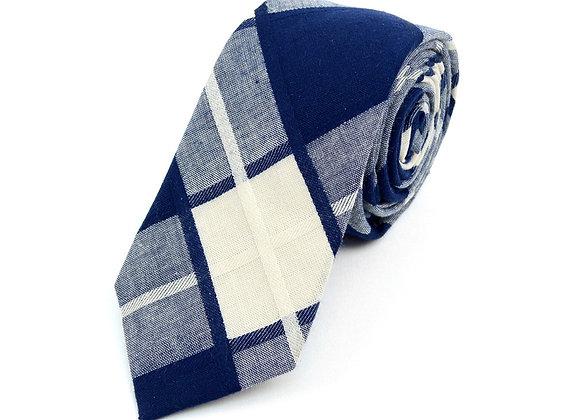 Navy Plaid Tie