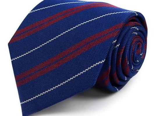 Navy Striped Tie