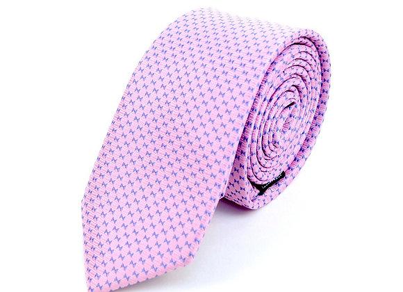 Pink Micro Geometric Dot Tie