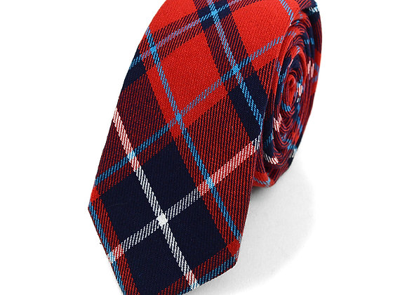 Red and Blue Flannel Tie
