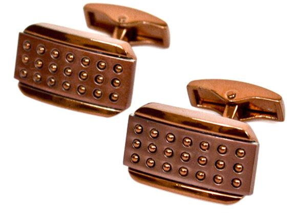 Copper Rectangular Cufflinks
