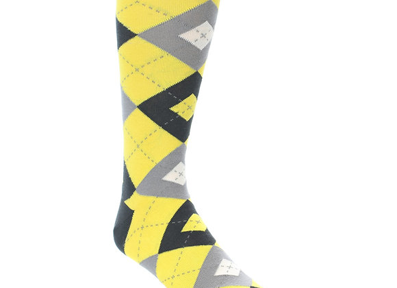 Daisy Yellow Argyle Socks