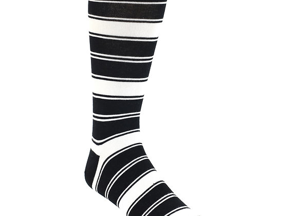 Black White Striped Socks