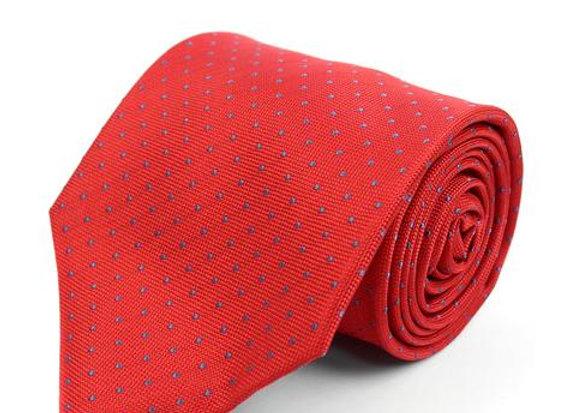 Red Pin Dot Tie