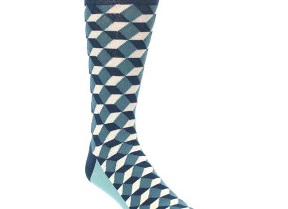 Teal Beeline Optical Men's Socks