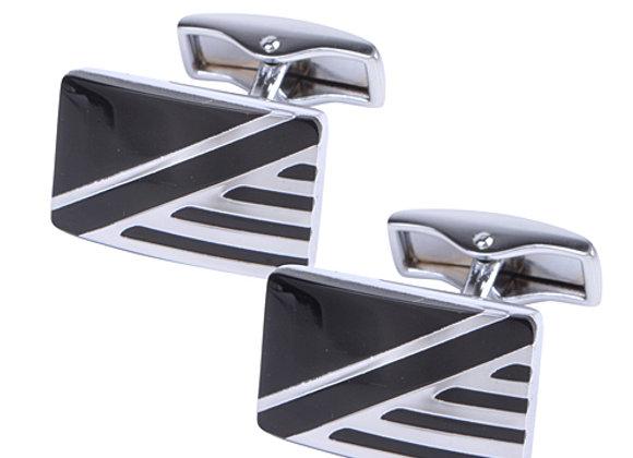 Silver Rectangular Cufflinks