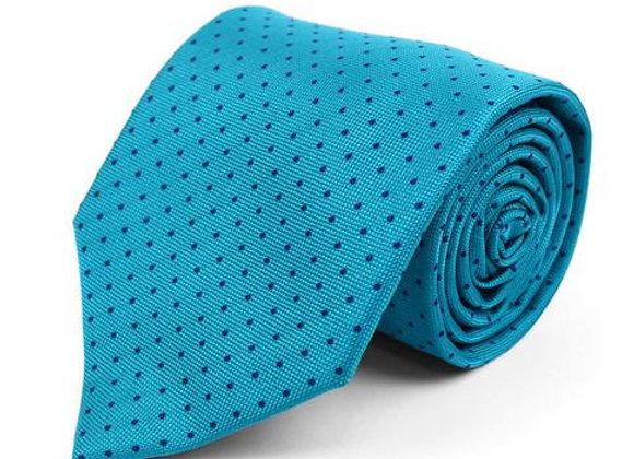 Teal Pin Dot Tie