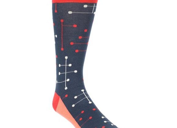 Red Dot Line Sock