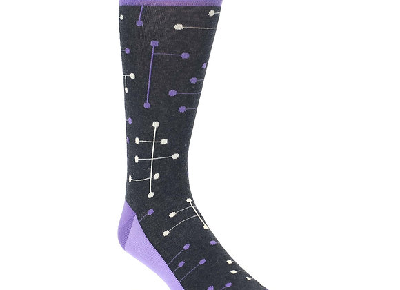 Purple Geometric Dot Line