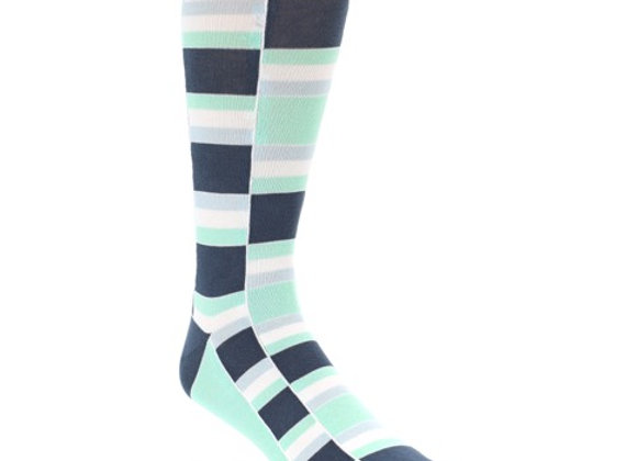Mint and Blue Stacked Socks