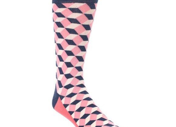 Pink Beeline Optical Socks
