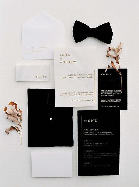 Contemporary Black Tie Wedding Inspirati
