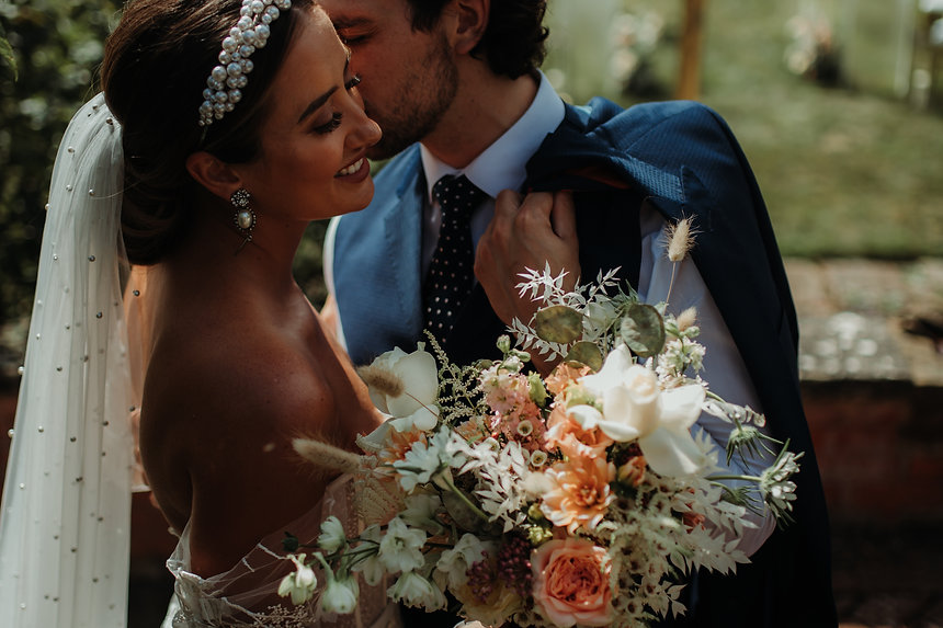Bride & Groom Summer Wedding, Wedding Bouquet By Gigil & Bloom, Luxury Wedding Bouquet, Hodsock Priory