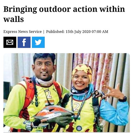 NthAdventure featured in New Indian Express