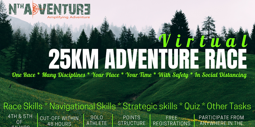 Virtual - 25KM Adventure Race 2020