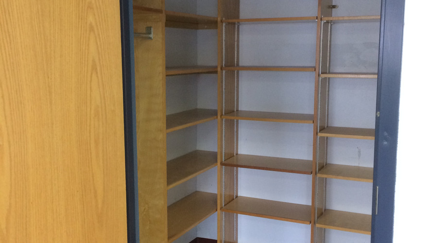 closet space of available room