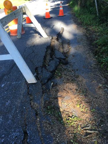 Garey Road storm damage near 342 Garey R