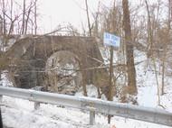 Railroad bridge over Six Penny Creek