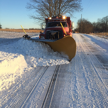 Plowing Hallman Road during 2018.