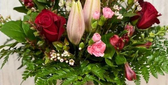 Stargazer & Rose Blooms