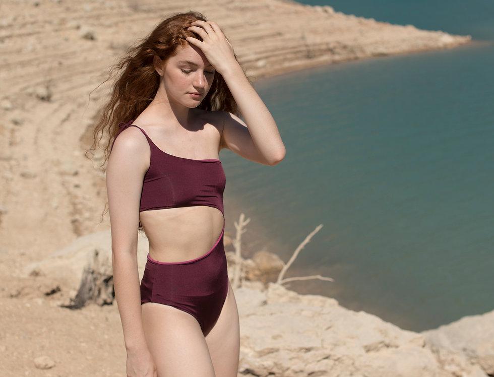 Margot one-shoulder reversible swimsuit