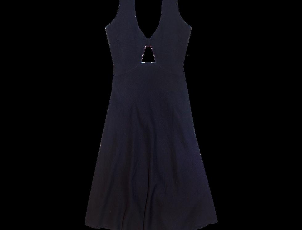 Sophia bio organic linen dress in night blue