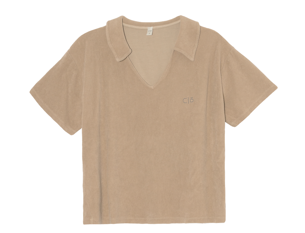 Frida Polo organic  towelling in sand