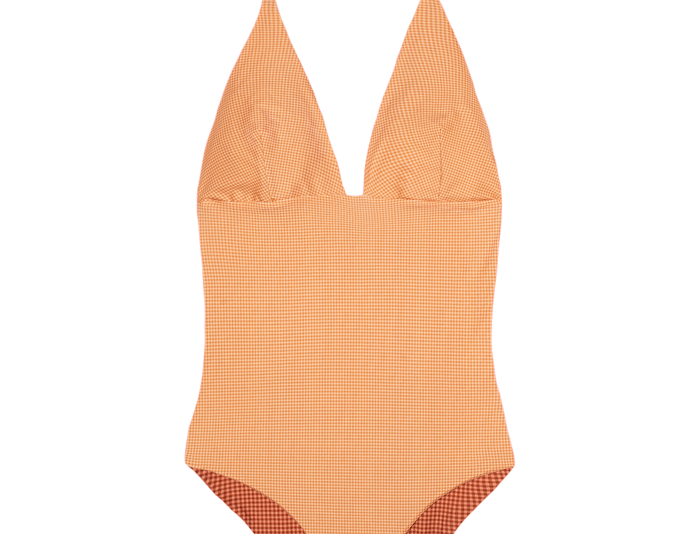 Grete reversible swimsuit in two gingham options