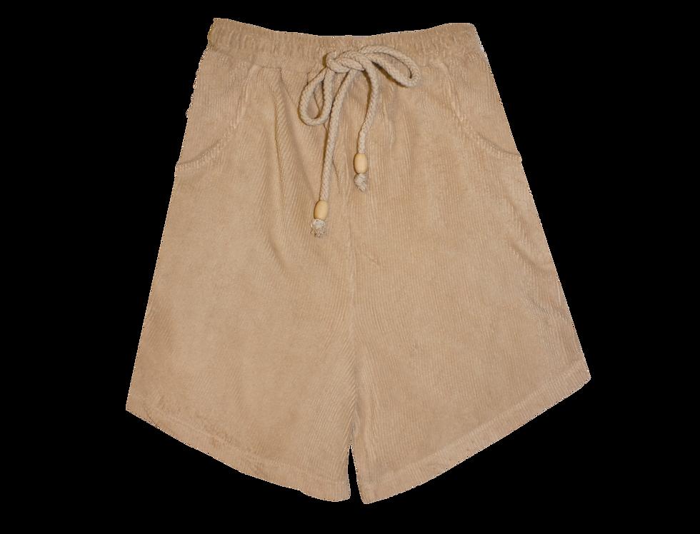 Joanne organic towelling shorts in sand
