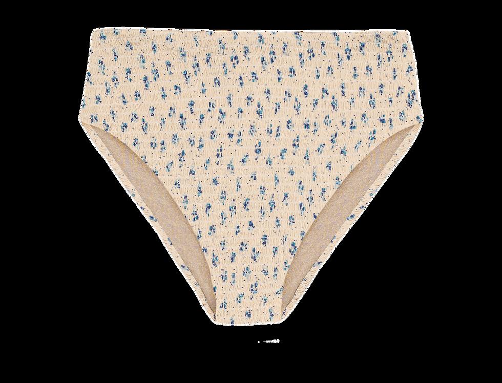 Gabrielle  reversible  high waisted bikini bottom smock flowers