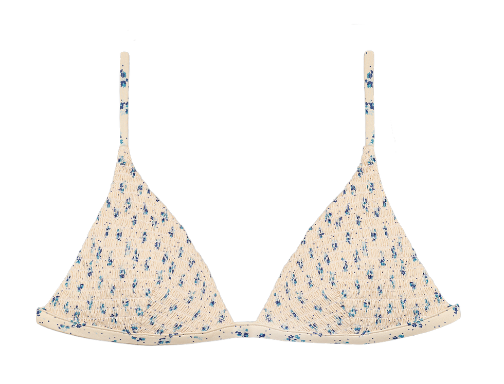Simone reversible triangle in smock flowers