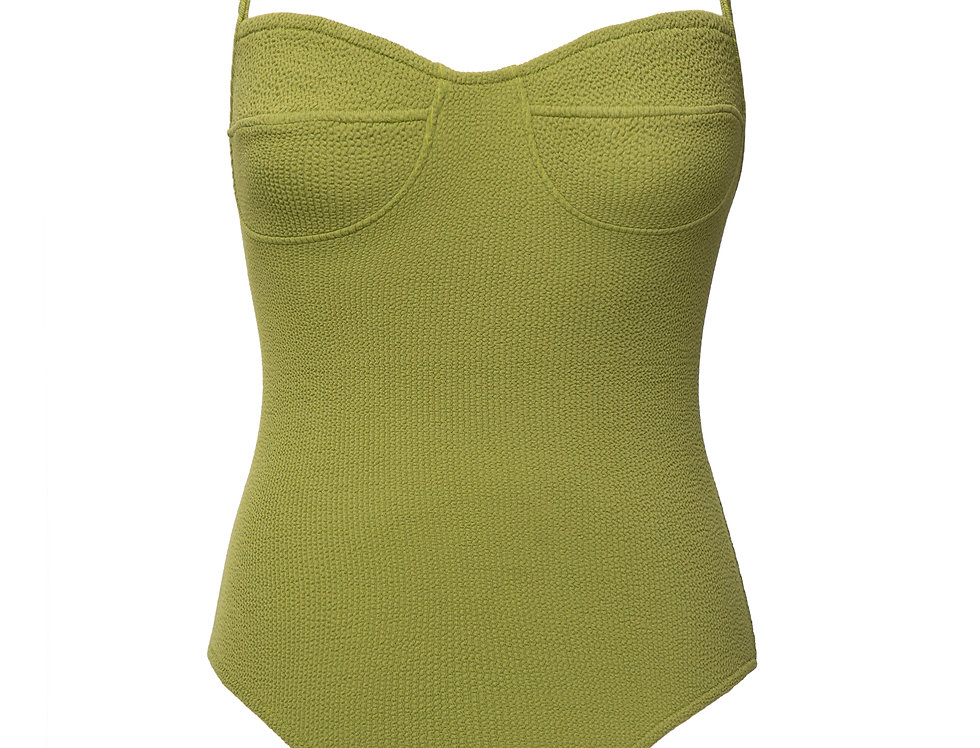 Colette textured swimsuit in olive