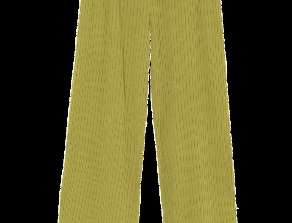 Norah organic ribbed pants lime