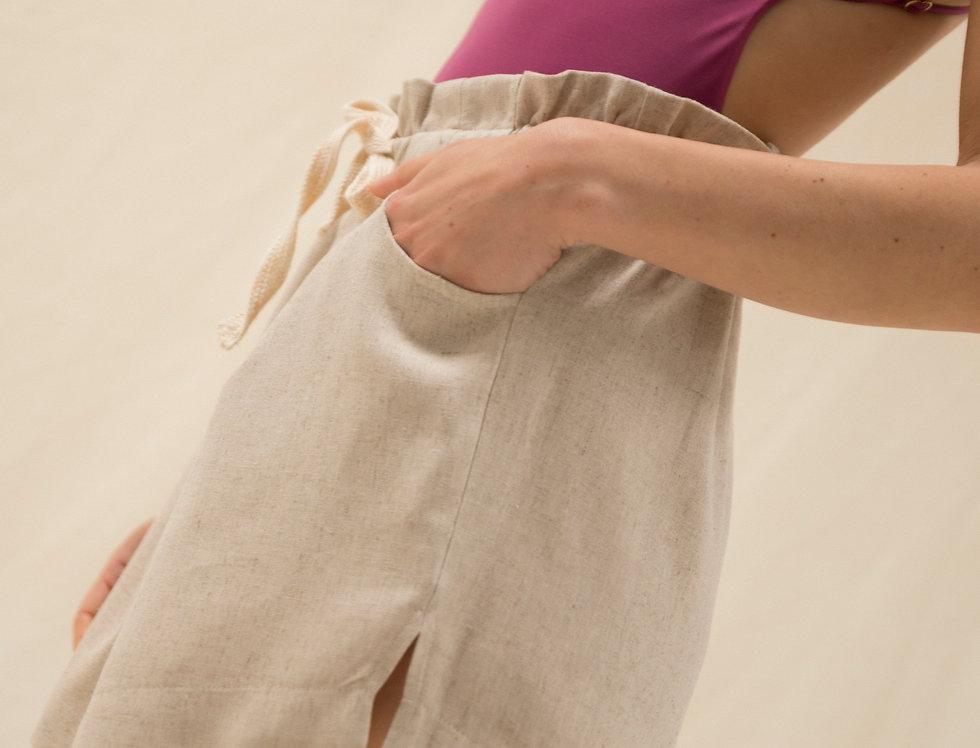 Joanne rustic linen shorts