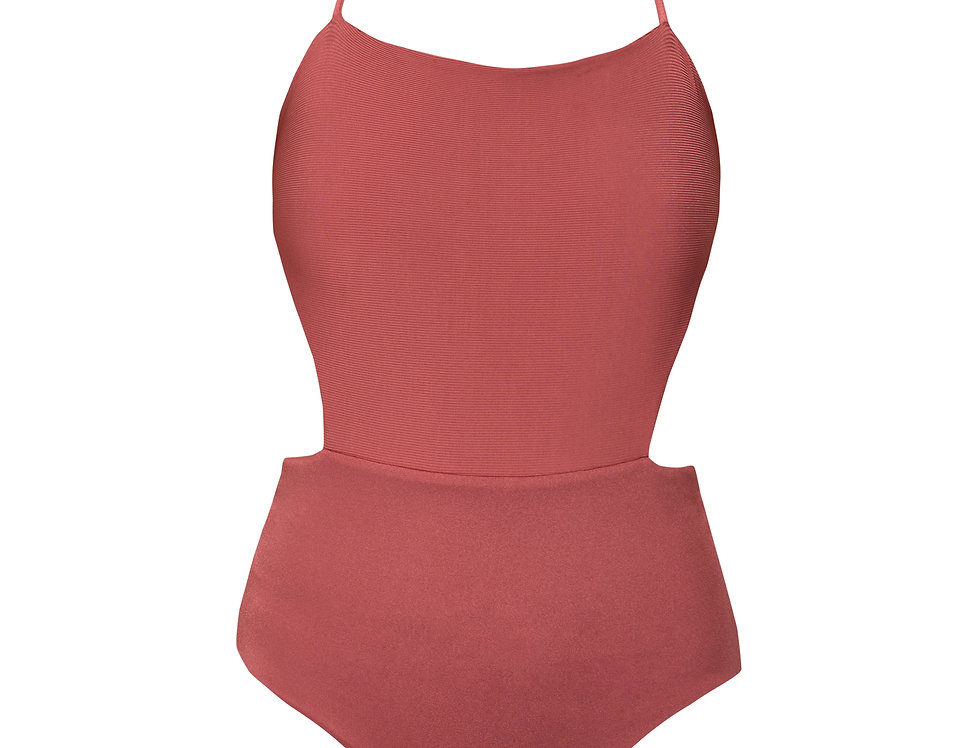 Camile ribbed reversible swimsuit