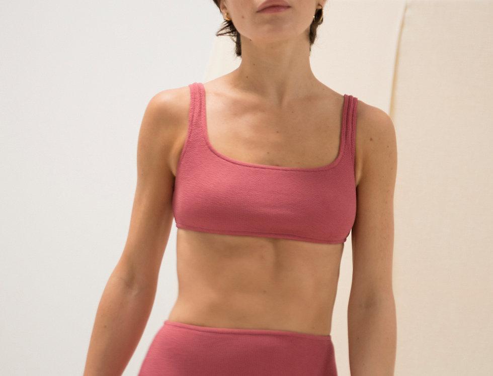 Jane textured bikini top.
