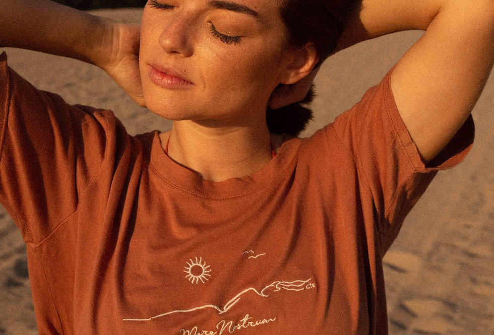 Lise organic cotton TEE in cacao